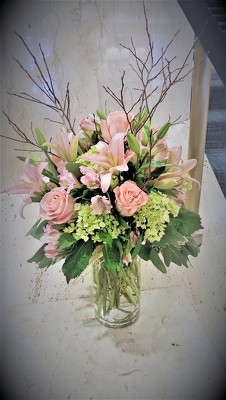 Soft Blush Arrangement  from Mangel Florist, flower shop at the Drake Hotel Chicago