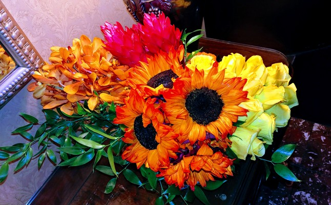 Large Bright Floral from Mangel Florist, flower shop at the Drake Hotel Chicago