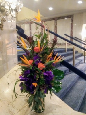 Tropical Birds of Paradise Arrangement  from Mangel Florist, flower shop at the Drake Hotel Chicago