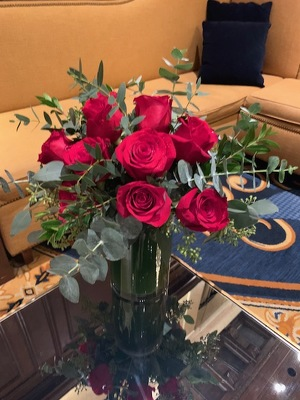 One Dozen Roses in Compact Arrangement  from Mangel Florist, flower shop at the Drake Hotel Chicago