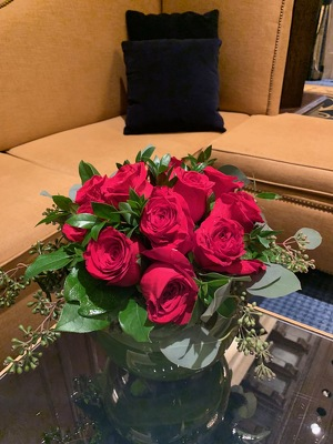 Low Compact Dozen Roses from Mangel Florist, flower shop at the Drake Hotel Chicago