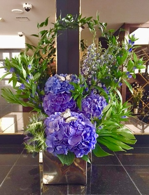 Sculptural Arrangement  from Mangel Florist, flower shop at the Drake Hotel Chicago