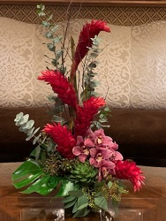 Ginger with Orchids from Mangel Florist, flower shop at the Drake Hotel Chicago