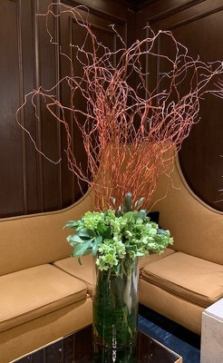 Tall Branch with Helebores from Mangel Florist, flower shop at the Drake Hotel Chicago