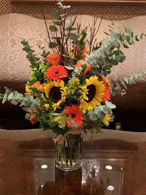 Tall Sunflower Arrangement  from Mangel Florist, flower shop at the Drake Hotel Chicago