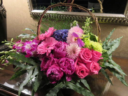 Floral Garden Basket from Mangel Florist, flower shop at the Drake Hotel Chicago