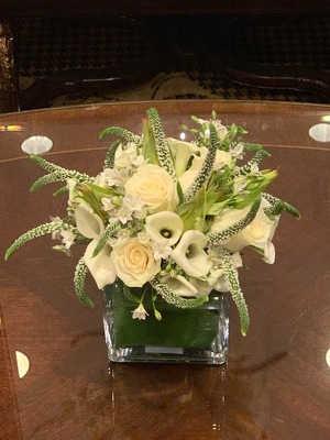 White Textural Arrangement  from Mangel Florist, flower shop at the Drake Hotel Chicago