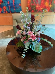 Round Statement Piece from Mangel Florist, flower shop at the Drake Hotel Chicago