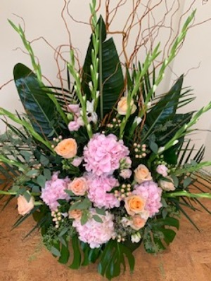 Pink and Peach Spray from Mangel Florist, flower shop at the Drake Hotel Chicago