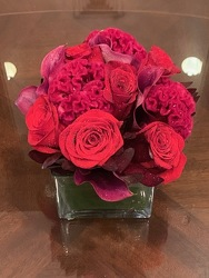 Monochromatic Red Arrangment  from Mangel Florist, flower shop at the Drake Hotel Chicago