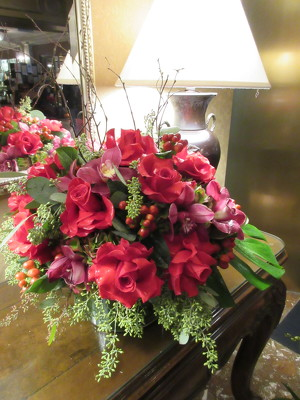 Rose and Orchid Arrangment from Mangel Florist, flower shop at the Drake Hotel Chicago