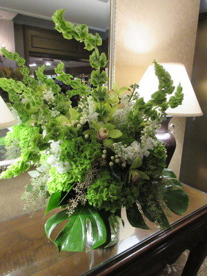 Tall Green and White Arrangement  from Mangel Florist, flower shop at the Drake Hotel Chicago