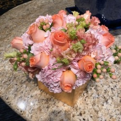 Blush and Peach Arrangement from Mangel Florist, flower shop at the Drake Hotel Chicago