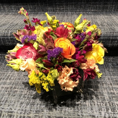 Low Colorful Arrangement  from Mangel Florist, flower shop at the Drake Hotel Chicago