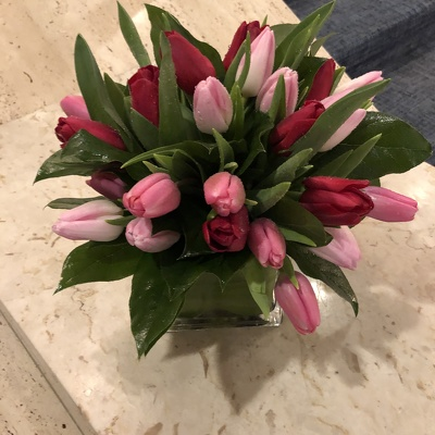 Assorted Tulip Arrangement  from Mangel Florist, flower shop at the Drake Hotel Chicago