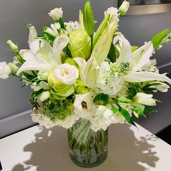 Tall White and Green Arrangement from Mangel Florist, flower shop at the Drake Hotel Chicago