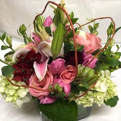 Spring Roses and Lilies  from Mangel Florist, flower shop at the Drake Hotel Chicago