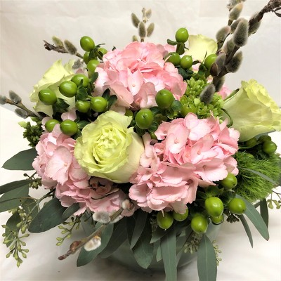 Pink and Green Spring Arrangement  from Mangel Florist, flower shop at the Drake Hotel Chicago
