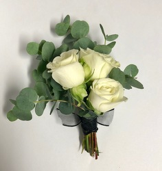 Boutonniere from Mangel Florist, flower shop at the Drake Hotel Chicago