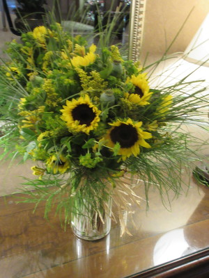 Large Sunflower Arrangement from Mangel Florist, flower shop at the Drake Hotel Chicago