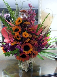 Tropical Mix with Sunflowers