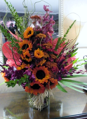 Tropical Mix with Sunflowers from Mangel Florist, flower shop at the Drake Hotel Chicago