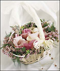 Flower Girl Basket from Mangel Florist, flower shop at the Drake Hotel Chicago