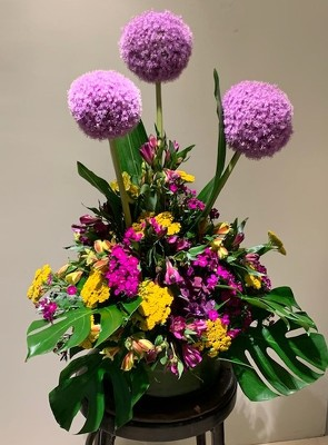 Allium Arrangement  from Mangel Florist, flower shop at the Drake Hotel Chicago