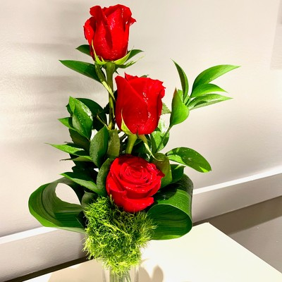 Three Rose Bud Vase from Mangel Florist, flower shop at the Drake Hotel Chicago