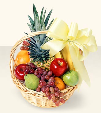 Fruit Basket from Mangel Florist, flower shop at the Drake Hotel Chicago