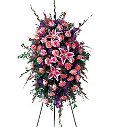 Precious Standing Spray from Mangel Florist, flower shop at the Drake Hotel Chicago
