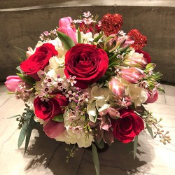 Valentine's Mix from Mangel Florist, flower shop at the Drake Hotel Chicago